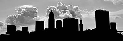 Black Commerce Photograph - Ominous Cleveland Silhouette by Frozen in Time Fine Art Photography