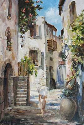 Tuscan Painting - On A Walk by Tigran Ghulyan