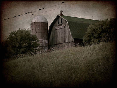 On Blackbird Hill Print by Angie Rea