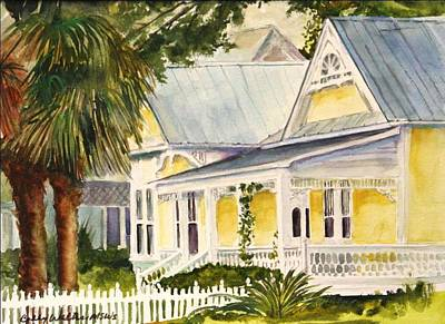 1890 Houses Painting - On East Laurel by Bobby Walters