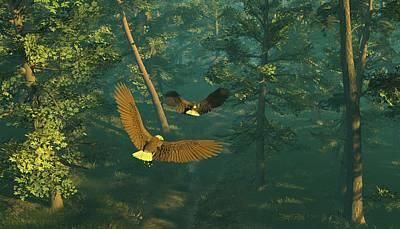 On Graceful Wings Part I Print by Dieter Carlton