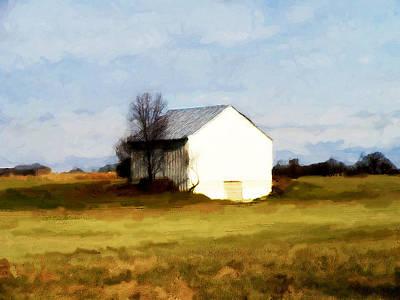On Hwy B Near Ogdensburg.  Print by David Blank