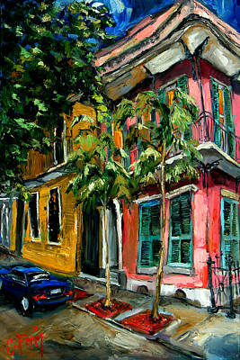 Garden Scene Painting - On St. Charles by Carole Foret