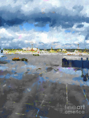 On The Airfield Print by Magomed Magomedagaev