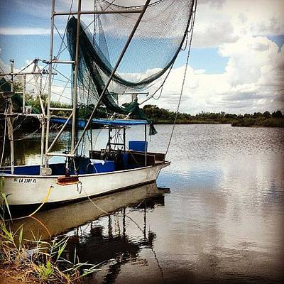 Boat Photograph - On The Bayou by Scott Pellegrin