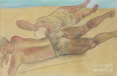 Drawing Painting - On The Beach by Celestial Images