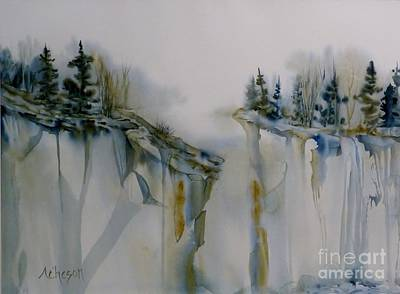 Wet On Wet Painting - On The Edge by Donna Acheson-Juillet