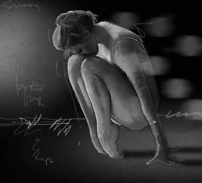 Acrobat Painting - On The Floor by H James Hoff