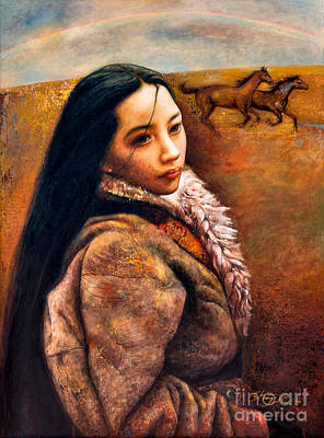 Tibet Painting - On The High Plateau by Shijun Munns