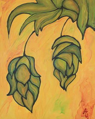 On The Hop Vine  Print by Alexandra Ortiz de Fargher