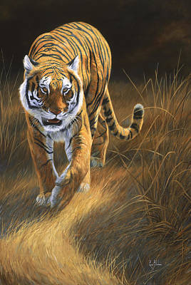 Tiger Painting - On The Move by Lucie Bilodeau