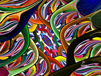 Digital Art - On The Other Side by Janet Russell