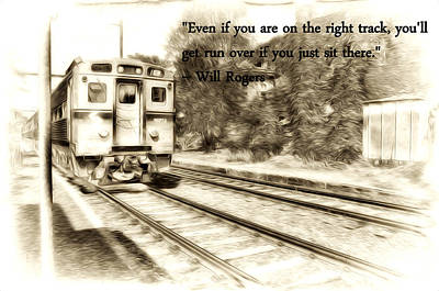 Will Rogers Photograph - On The Right Track by Bill Cannon