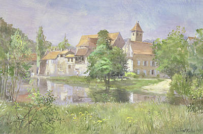 On The River Lot, 1991 Wc Print by Tim Scott Bolton