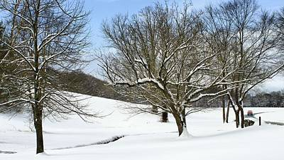Winter Scenes Photograph - On The Road Again by Carol R Montoya