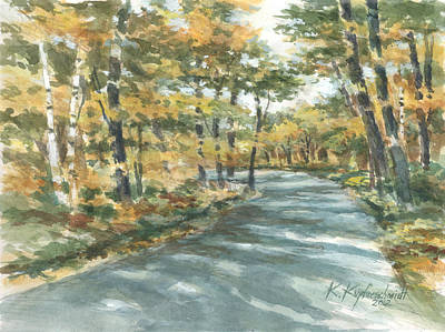 On The Road Home Print by Kerry Kupferschmidt