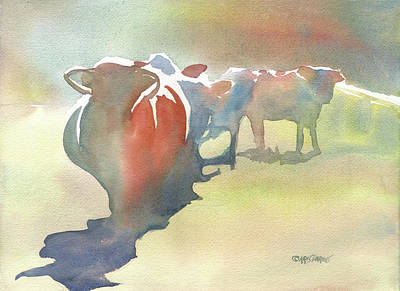 Wet Into Wet Watercolor Painting - On The Road by Kris Parins