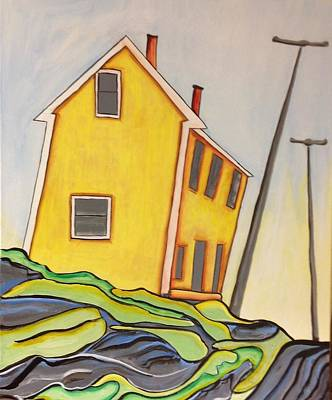 Colorful House  Print by Heather Lovat-Fraser