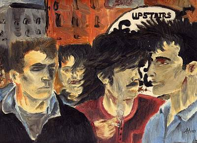 U2 Painting - On The Street by Alan Hogan