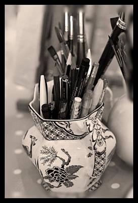 Liz Alderdice Photograph - On The Studio Shelf by Liz  Alderdice