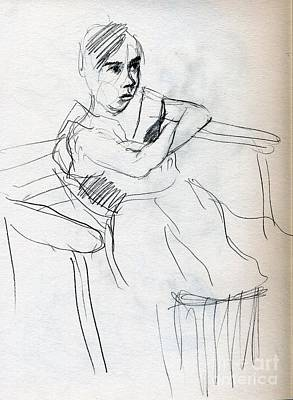 Whistler Drawing - On The Swing by Whistler Kenworthy