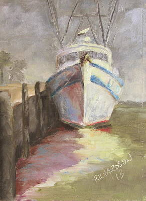 Susan L Richardson Art Painting - On The Waterfront by Susan Richardson