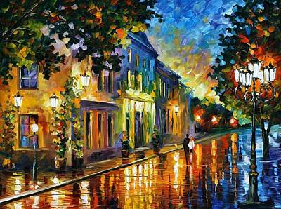 Morning Light Painting - On The Way To Morning by Leonid Afremov