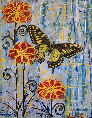On The Wings Of A Dream Print by Jane Chesnut