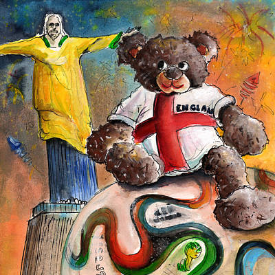 Statue Portrait Drawing - On Top Of The World Cup by Miki De Goodaboom