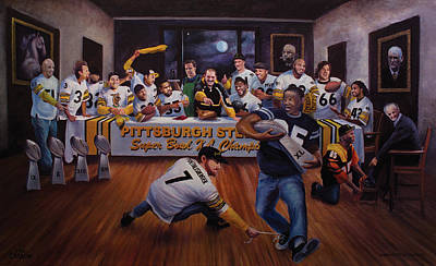 Pittsburgh Steelers Painting - Once In A Blue Moon by Frederick Carrow