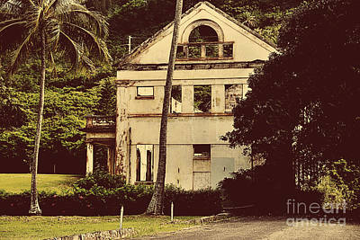 Old House Photograph - Once Loved    Sepia Tones by Cheryl Young