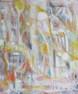 Abstract - Expressionist - African Art Painting - Once Upon A Time by Hari Thomas