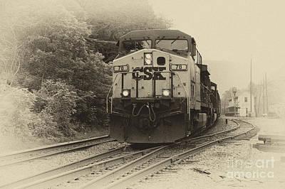 Oncoming Train Print by Thomas R Fletcher