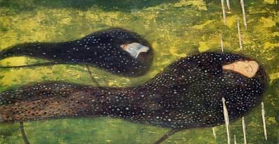 Vienna Painting - Ondine by Gustav Klimt
