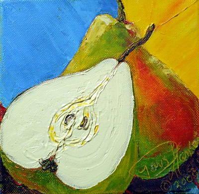 One And A Half Pears Print by Paris Wyatt Llanso