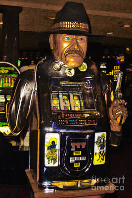 One Arm Bandit Slot Machine 20130308 Print by Wingsdomain Art and Photography