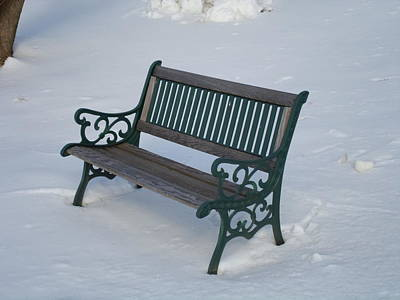 Photograph - One Bench by Jenna Mengersen