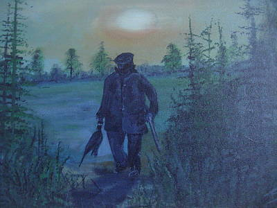 Poachers Painting - One For The Pot by Stephen Thomson