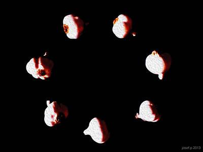 Artwork Photograph - One Garlic In Motion Rotation by Sir Josef - Social Critic - ART