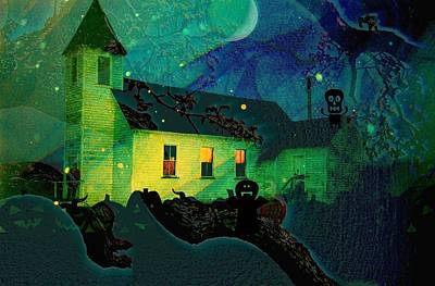 One Hallowed Evening Print by Shirley Sirois