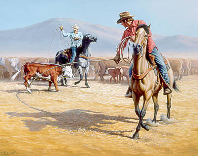 Cowboy Painting - One Heel by Paul Krapf