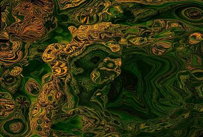 Unreal Digital Art - One If By Land Two If By Seaweed Green And Gold by Jim Williams
