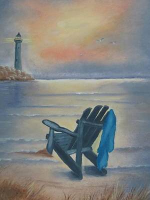 Lawn Chairs Painting - One Is A Lonely Number by Kay Novy
