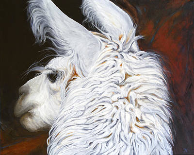 Llama Painting - One Is The Loneliest Number by Tracy Anderson
