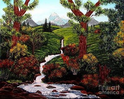 Babbling Brook Painting - One Last Look by Barbara Griffin