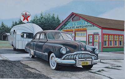 Buick Painting - One Last Trip by John Houseman