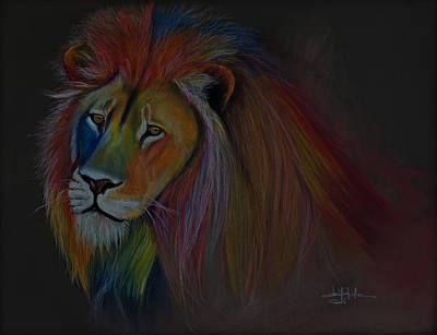 Sahara Drawing - One Lion by Isabel Salvador