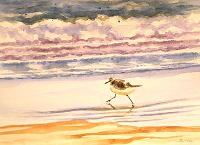 Painting - One Little Sandpiper by Julianne Felton