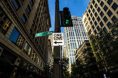 Downtown Photograph - One Love by Michael DeMello