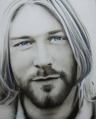 Kurt Cobain Painting - Kurt Cobain - ' One More Special Message To Go ' by Christian Chapman Art